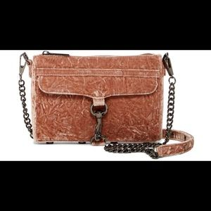Rebecca Minkoff velvet mini mac crossbody bag